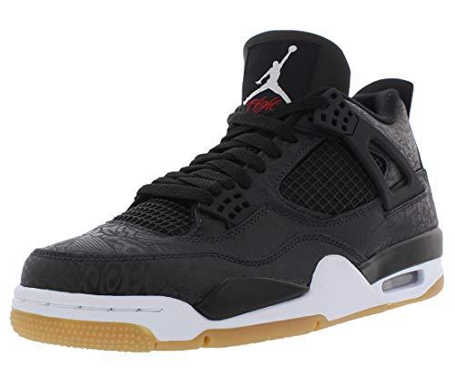 Nike Air Jordan 4 Retro SE Mens Basketball Trainers CI1184 Sneakers Shoes (UK 9.5 US 10.5 EU 44.5, Black White Gum 001)