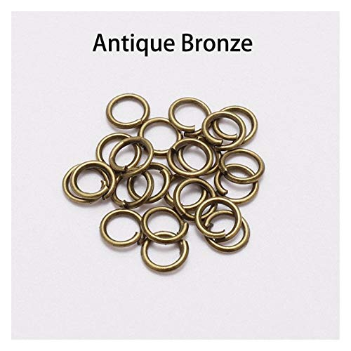 WRRPS 200pcs/lot Jump Rings Split Rings Connectors For Diy Jewelry Finding Making Accessories Supplies DIY accessories (Color : Bronze, Size : 16mm x 100Pcs)
