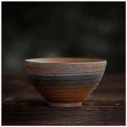 DONGYAO Juego de sake, tazas de cerámica para té Saki, tazas japonesas de Ochoko hechas a mano, tazas de porcelana artesanales (2.5 onzas) (C (80 ml), 6 piezas) (color: B (80 ml), tamaño: 4 piezas)