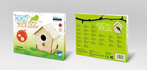 Robo Time F198 - Casetta per Uccelli, 11 Pezzi, 3 Puzzle 3D, Multicolore
