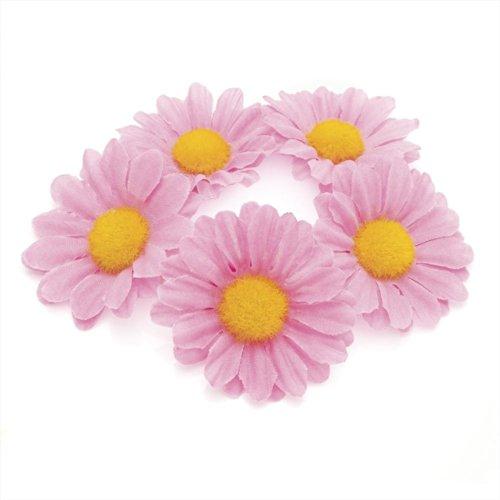 Daisy Flower Bun Ring Garland Scrunchie Elastic Hair Band (PINK).
