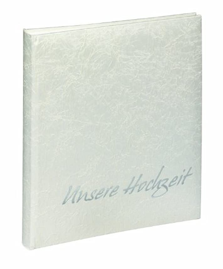 Pagna Tsarina 11655-02 Wedding Album 270 x 330 mm Fabric Cover 48 + 4 Pages/Sleeve for 2 CDS/White