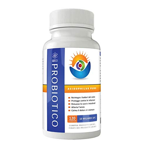 GBSci Probiotici Acidophilus Puri, 100{630949be698d475e7227bff71fd7b50a3d2e0ba4b1fa1f5e2e2dfe6ffe7e89b5} Adatti a Diete Vegetariane/Vegane e Senza Glutine, 10 Miliardi di Unità Formanti Colonie per Compressa, Perfetti per Adulti e Bambini, Realizzati nel Regno Unito