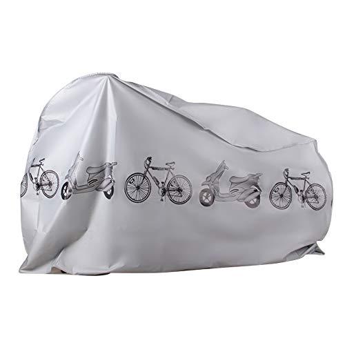 EZONTEQ Funda para Bicicleta Impermeable, Funda de Proteccion Bicicleta Bici Moto Cubierta a Prueba de Polvo Sol Lluvia Agua UV Rayos Ultravioleta (Gris 210x100cm)