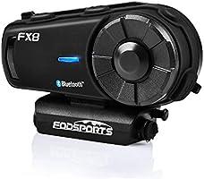 FODSPORTS バイク インカム FX8最新改良版 最大8人同時通話 FMラジオ対応 Bluetooth4.1 Hi-Fi高音質 Bluetooth インタコーム IPX6防水 バイク用インカム 操作簡単 幅広い互換性 連続20時間通話...