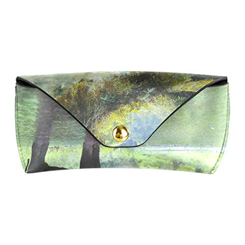 XiangHeFu zonnebriletui draagbaar brillentasje PU-leer multifunctionele brillenkoker Steam Forest Elephant