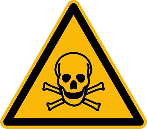 Aufkleber W016 Warnung vor giftigen Stoffen 12 Stck