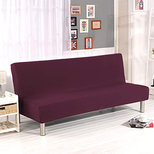 YMOMH Without Armrests Elasticity Sofa Cover,Folding Sofa Bed Soft,Anti-slip Completely Surrounded Couch Cover,2-3 Seats Sofa Slipcover-F L