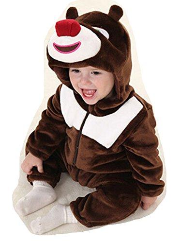 OHmais Bébé Fille garçon Unisexe Grenouillère Costume Deguisement Combinaison Pyjamas vêtement Printemps Automne Grand Ours