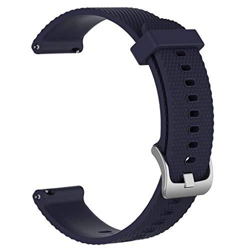 WE-WHLL para -Samsung-Galaxy Watch3 / AmazfitGTR / HuaweiGT2 / -Garmin Texture Band Correa 20 22-NBL