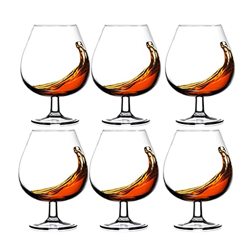 Crystal Glass Domestic Multi-function Wineware Foreign Wine Glass High-low-footed Cognac Glass Red Wine Glass Beverage Glass Milk Glass (Color : Transparent-B, Size : 670ML)