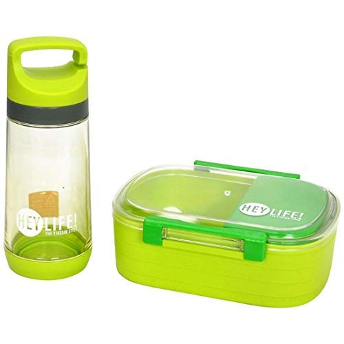 Tuelip Lunch Box for School Going Kids Girls & Boys 3 Containers Lunch Box (Green)