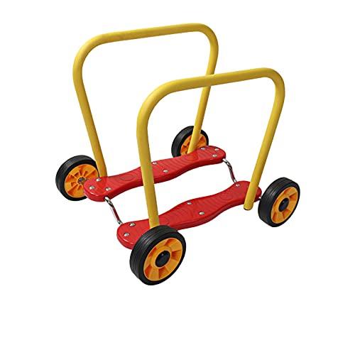 LDIW Patinete De Pedales De Cuatro Ruedas Coche De Entrenamiento De Integración Sensorial Coche De Entrenamiento De Equilibrio para Niños con Fitness Toy Caminante Infantil con Ruedas,Rojo
