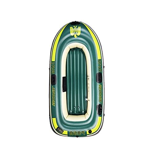 ZXQZ Kayac, Juego de Balsa de Barco, Bote de Remo Inflable de Goma para 2/3/4 Personas para Adultos, Pesca En Canoa (Size : 198cm)