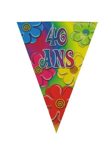 Part Pro Party Pro_40133807 Guirlande 40 ans Multicolore 4 m