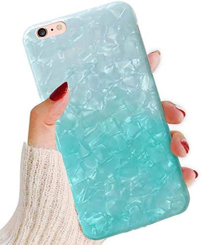 "J.west iPhone 6S Plus Case,iPhone 6 Plus Case Cute Phone Case Girls Women Glitter Pretty Design Sparkle Translucent Clear Bumper Slim TPU Soft Silicone Back Cover Case for iPhone 6Plus/6s Plus 5.5"""
