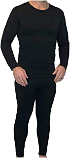 Z-TEX Ultra Soft Men's Microfiber Fleece Lined Thermal Underwear Long Johns Set with Fly