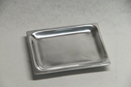 Kerzenteller/Dekoteller für Formkerze Doppelspitz ; 10 x 7 cm in Silber, poliert ; M 36
