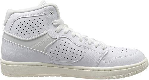 Nike Herren Jordan Access Hohe Sneaker, Mehrfarbig (White/White-Pale Ivory-Metallic Gold 100), 45 EU