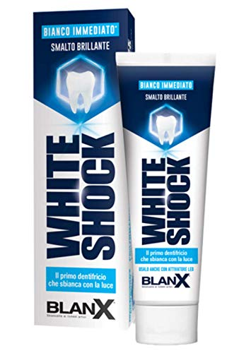 BlanX White Shock Zahnaufhellung, Zahnschmelzschonende Zahncreme, für weißere Zähne, 75ml