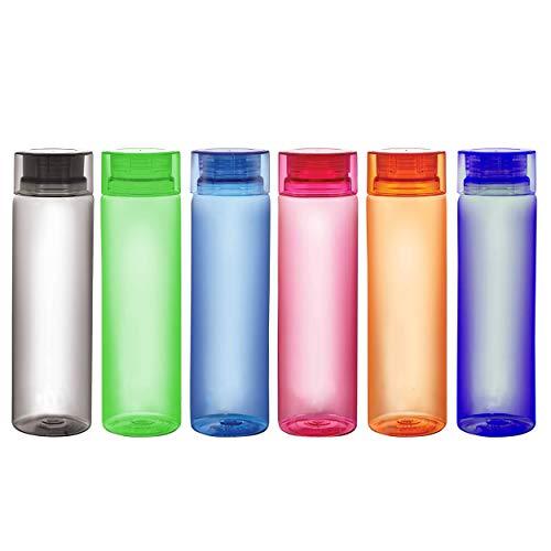 Homance Plastic Water Bottle, 1L, Set of 6, Multicolour