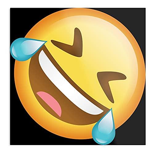 Póster de pared con diseño de Rolling on The Floor Emoji Laughing