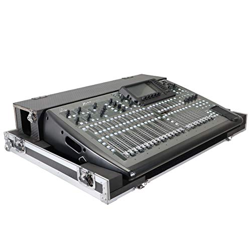 ProX Flight Hard Road Case ProX Mixer Case with Doghouse and Wheels fits Behringer X32 - XS-BX32DHW