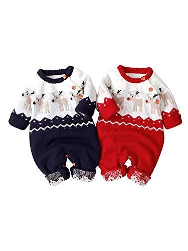 Bebé Suéter de Navidad Jersey Navideño de Recién Nacido Ropa Superior de...