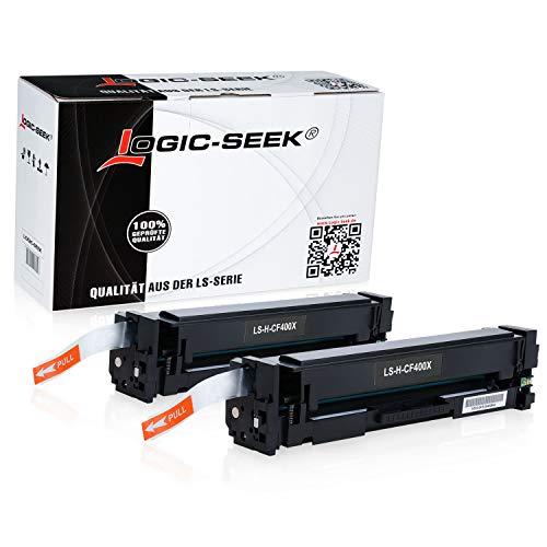 2 Logic-Seek Toner kompatibel mit HP CF400X für HP Laserjet Pro MFP M277dw, MFP M277n, MFP M274n, M252dw, M250 Series - 201X - Schwarz je 2.800 Seiten