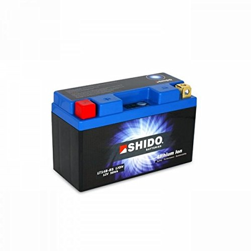 Shido LITHIUM-IONEN Batterie YT14B-BS 12 Volt, SHIDO Motorrad Batterie | LiFePO4 | LI-YT14B-BS passend für Yamaha FJR 1300 AS Automatik ABS, 2D27, RP135, Bj. 2007 [Preis ist inkl. Batteriepfand]