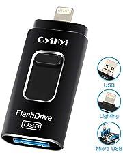 OYIKYI usbメモリ 32gb iPhone フラッシュドライブ 人気 フラッシュメモリ iOS/Android/コンピュータ対応 スマホ 容量不足解消 パスワード保護 高速転送 日本語取扱説明書付き