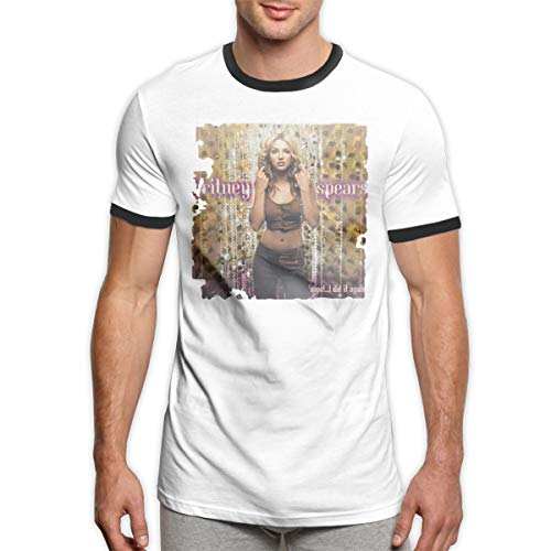 Britney Spears Oops! I Did It Again T-Shirts Men's Crewneck Short Sleeve Ringers Tee Shirt Black L
