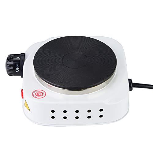 Placa de cocción para estufa, estufa eléctrica, multifuncional, fácil de limpiar, 500 W para el hogar, acero inoxidable(European standard 220V)