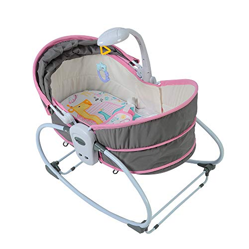 Find Discount COLOR TREE Newborn Crib 5 IN 1 Multifunctional Rocker Napper Gliding Swing With Portab...
