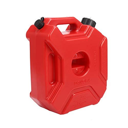 LilyJudy Bidón de plástico de 5 litros para gasolina SUV motocicleta + kit de montaje
