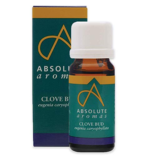 Absolute Aromas Clove Bud Essential Oil 10ml - 100% Pure, Natural, Undiluted, Vegan and Cruelty-Free - for use in Diffusers and Aromatherapy Blends