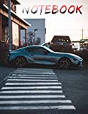 Toyota Supra Silver Metallic Notebook: Awesome Notebook with 120 pages 8.5x11',perfect for men, women, boys and girls and for any car lovers enthusiast, unique holiday gift idea