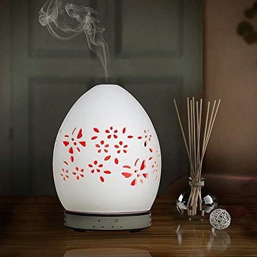 HDFIER luftbefeuchter young living Luftbefeuchter Ultraschall, Ultra Leise Öl Diffuser für Baby, Schlafzimmer, Raum Duftlampe Duftlampe aus Keramik mit kreativen ätherischen Ölen