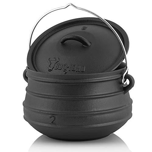 BBQ-Toro Potjie l Gusseisen Hexenkessel (Potjie #2 (ca. 6 Liter), ohne Füße) Guss Kochtopf l Südafrikanischer Dutch Oven