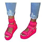 JFFFFWI Sandali per Donna Dressy, Donna 2021 Platform Slide On Sandal Open Toe Dress Summer Casual Slippers Shoes