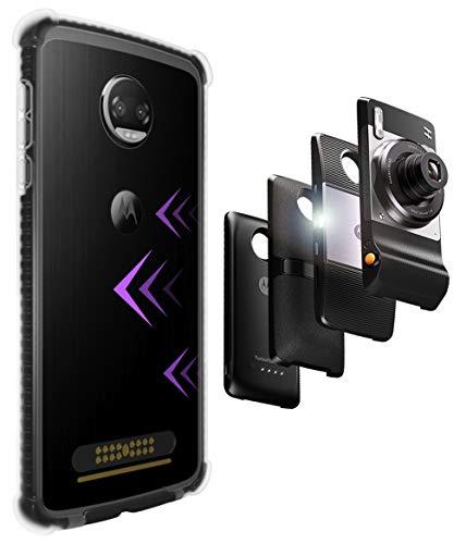 Casewe – Funda para Motorola Moto Z2 Play/Bumper Protector Compatible con Moto Mods – Negro Mate…
