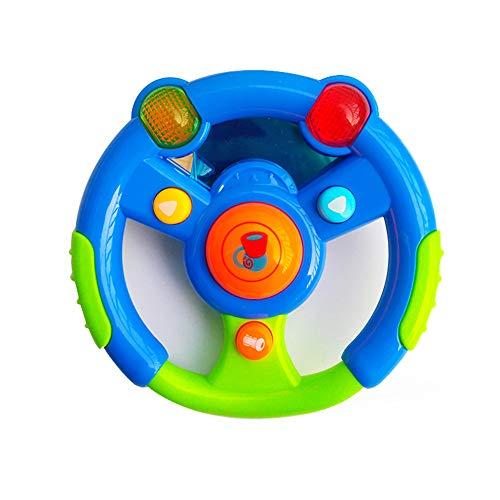 dontdo Luz Música Juguete Niños Música realista Volante eléctrico con LED Educativo Niños Juguete Azul