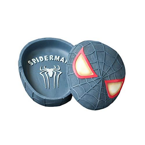 yaya Asbak Asbak met Deksel Spiderman Masker Helm Hars Hand Maak Asbak Thuis Buiten Kerstmis Binnen en buiten