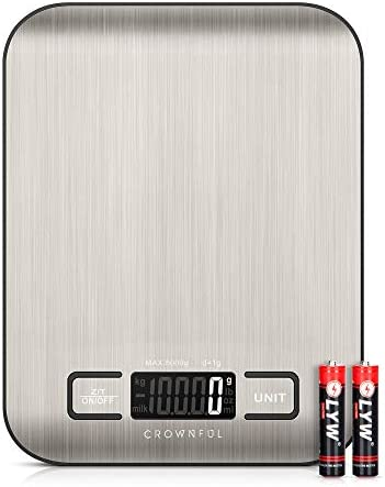 Crownful Digital Food Scales 11lb Kitchen Scale Weight Grams and Ounces for Cooking and Baking product image