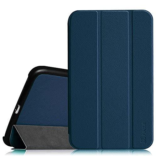 Carcasa delgada para Samsung Galaxy Tab 4 8.0 (8 pulgadas) – Funda protectora ultra ligera con función atril y función de encendido automático, color negro