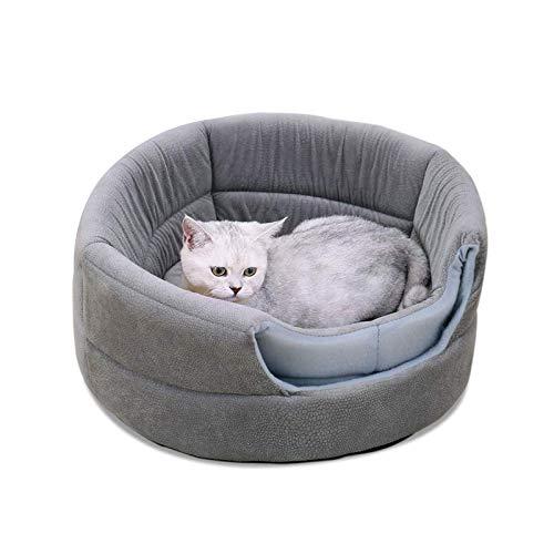 Sofá 2 en 1 para casa de perro con cojín desmontable lavable, color gris iglú