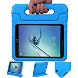 hHülle Tablethülle mit Griff kompatibel mit Samsung Galaxy Tab S2 9.7, Hülle kompatibel mit Kinder - Blau
