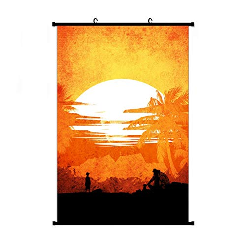 Fubuki A Wide Variety of One Piece Luffy Vs Teach Wall Scroll Hanging Decor (16x24 in, 24x36 in)