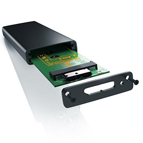 CSL - SSD M.2 Festplattengehäuse - USB 3.0 Case auf M.2 Adapter NGFF - SATA Key B und B und M Key - M.2-Schnittstellen-Standard NGFF - Module 2280 2260 2242 und 2230