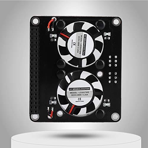 SOONHUA Ventilador de disipación de calor, mini ventilador de refrigeración doble con placa de extensión GPIO utilizado para pastel de frambuesa 4B/3B+/ 3B/3A+